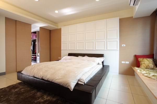 床头背墙隐藏门设计图片